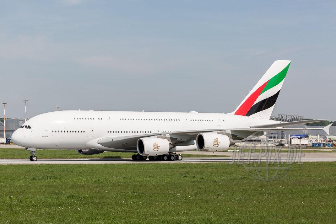 F-WWAN / A6-EUS / EMIRATES Airbus A380 2017 05 18 EDHI Finkenwerder