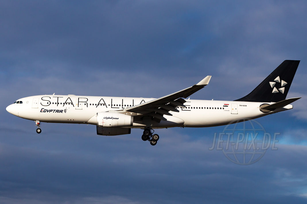 "SU-GCK Egyptair Airbus A330-243 ""Star-Alliance"" 2013 12 27 EDDF Frankfurt"