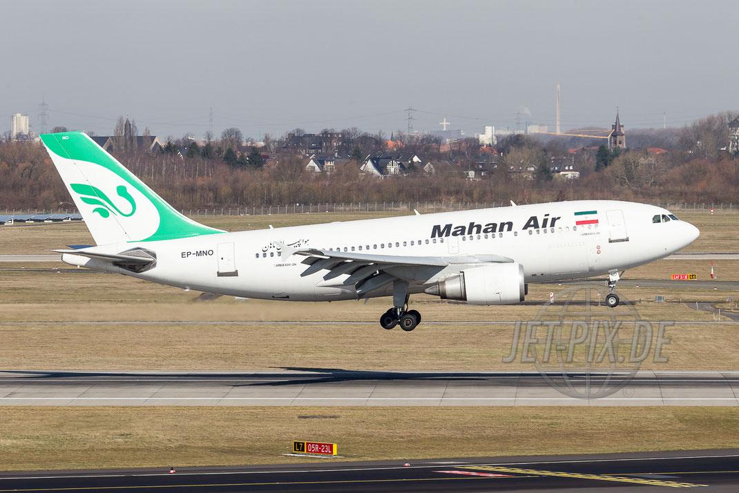 EP-MNO Mahan Air Airbus A310 2013 04 07 EDDL Düsseldorf