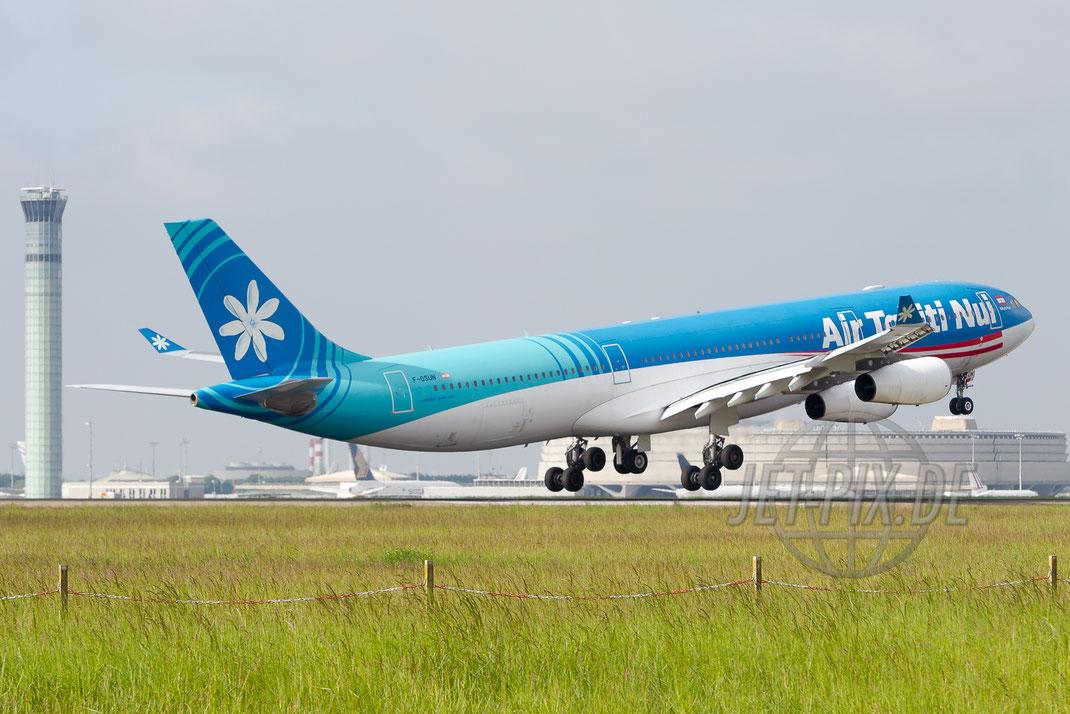 F-OSUN Air Tahiti Nui Airbus A340 2015 05 16 LFPG Charles de Gaulle