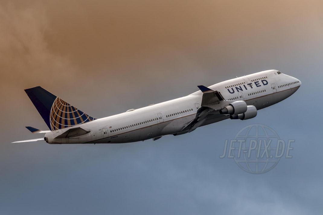 N180UA United Airlines Boeing 747-422 2017 09 09 EDDF Frankfurt
