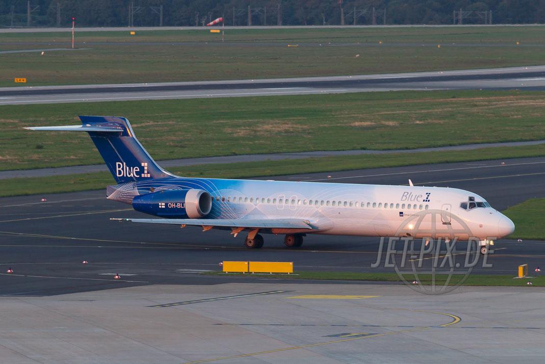 OH-BLI Blue1 Boeing 717 2013 10 02 EDDL Düsseldorf