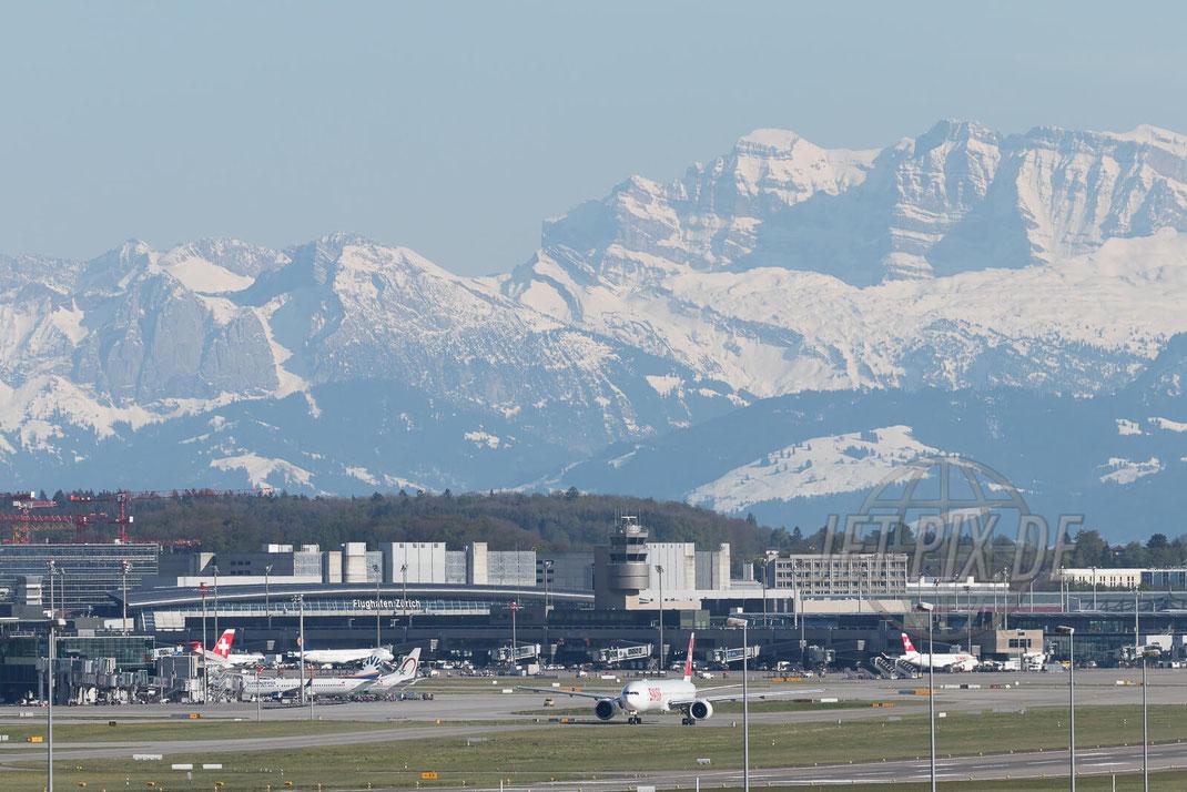 Flughafen Zürich 2017 04 30 Alpenpanorama