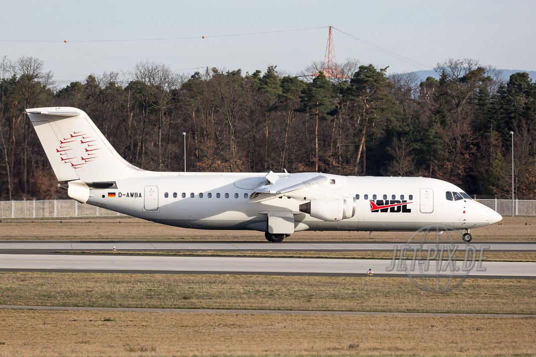 D-AWBA WDL Aviation Bae 146-300 Nordwestbahn bestes Wetter Landung Frankfurt Airport Nordwestbahn Planespotter Plane Spotter EDDF Frankfurter Flughafen Planspotter