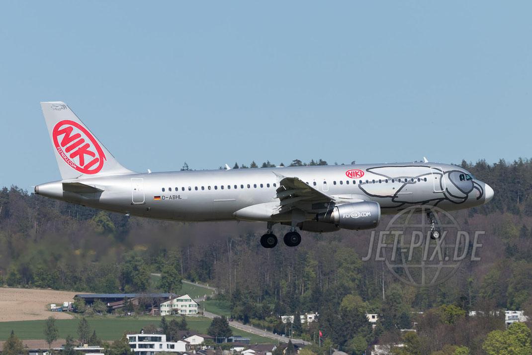 D-ABHL NIKI Airbus A320 2017 04 30 ZRH