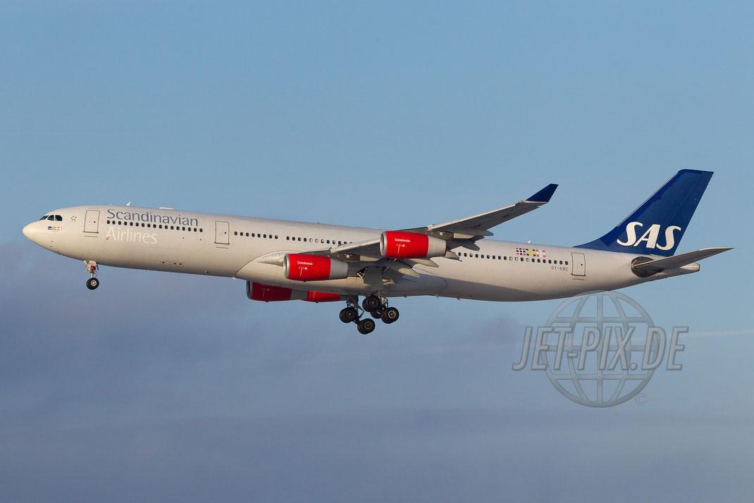 OY-KBC SAS Airbus A340 2014 12 27 EKCH Copenhagen