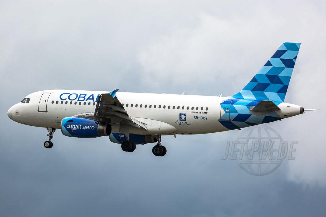 5B-DCV Cobalt Air Airbus A319-132 2017 07 27 EDDF Frankfurt