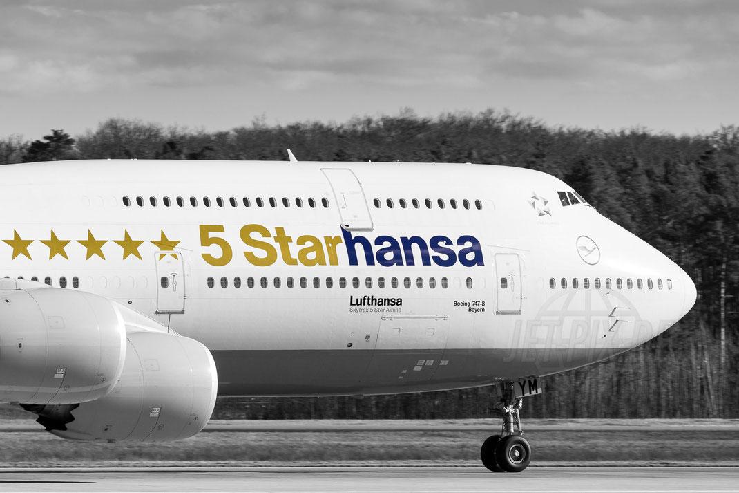 D-ABYM Lufthansa ***** 5Starhansa Boeing 747-8 2018 02 13 EDDF Frankfurt