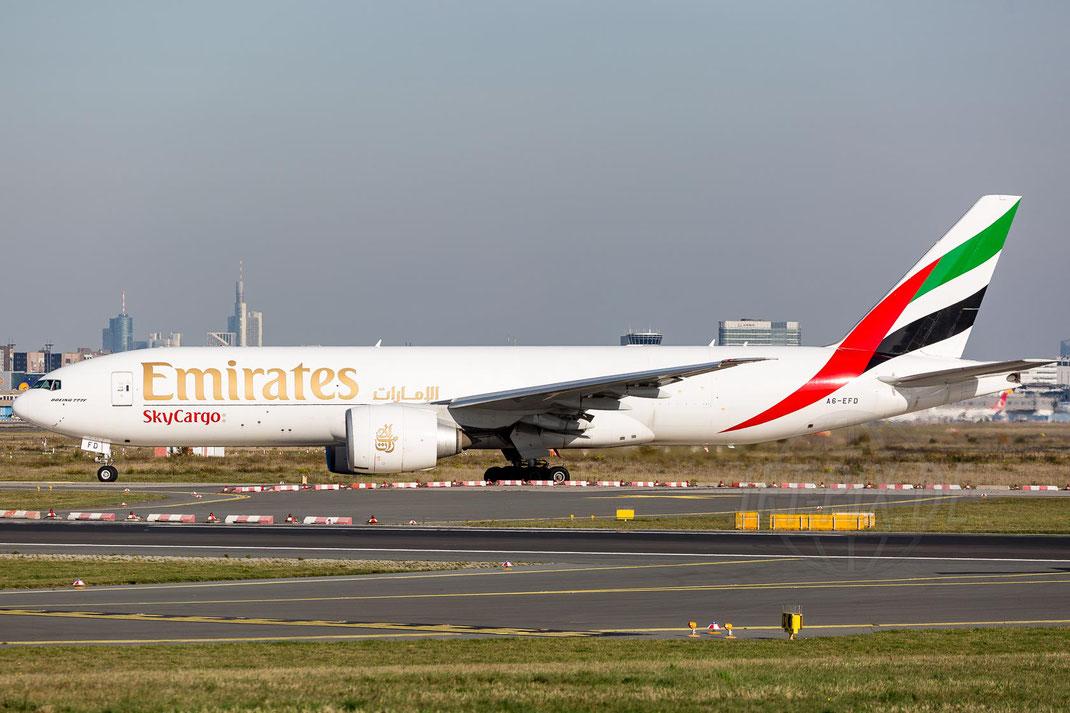 A6-EFD Emirates Boeing 777-F1H 2017 11 01 EDDF Frankfurt