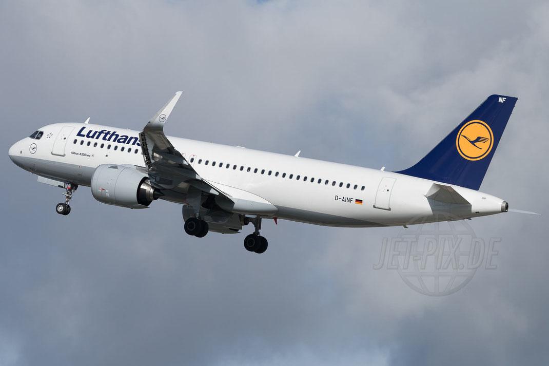 D-AINF Lufthansa Airbus A320-271N 2017 10 07 EDDS Stuttgart