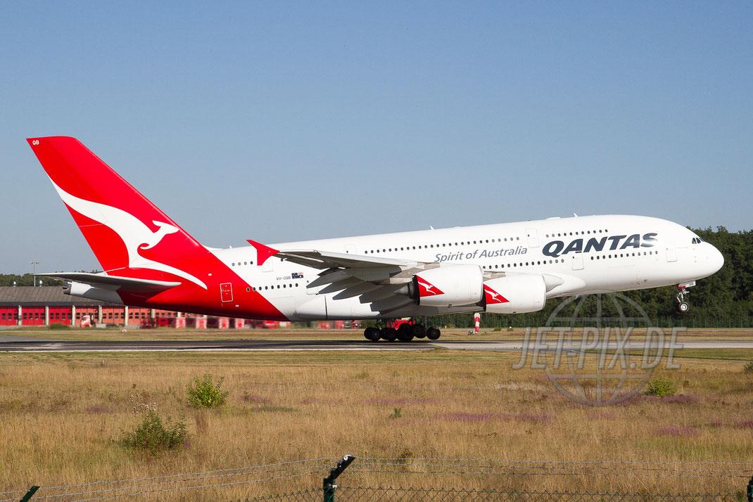 VH-OQB Qantas Airbus A380 2012 09 08 EDDF Frankfurt