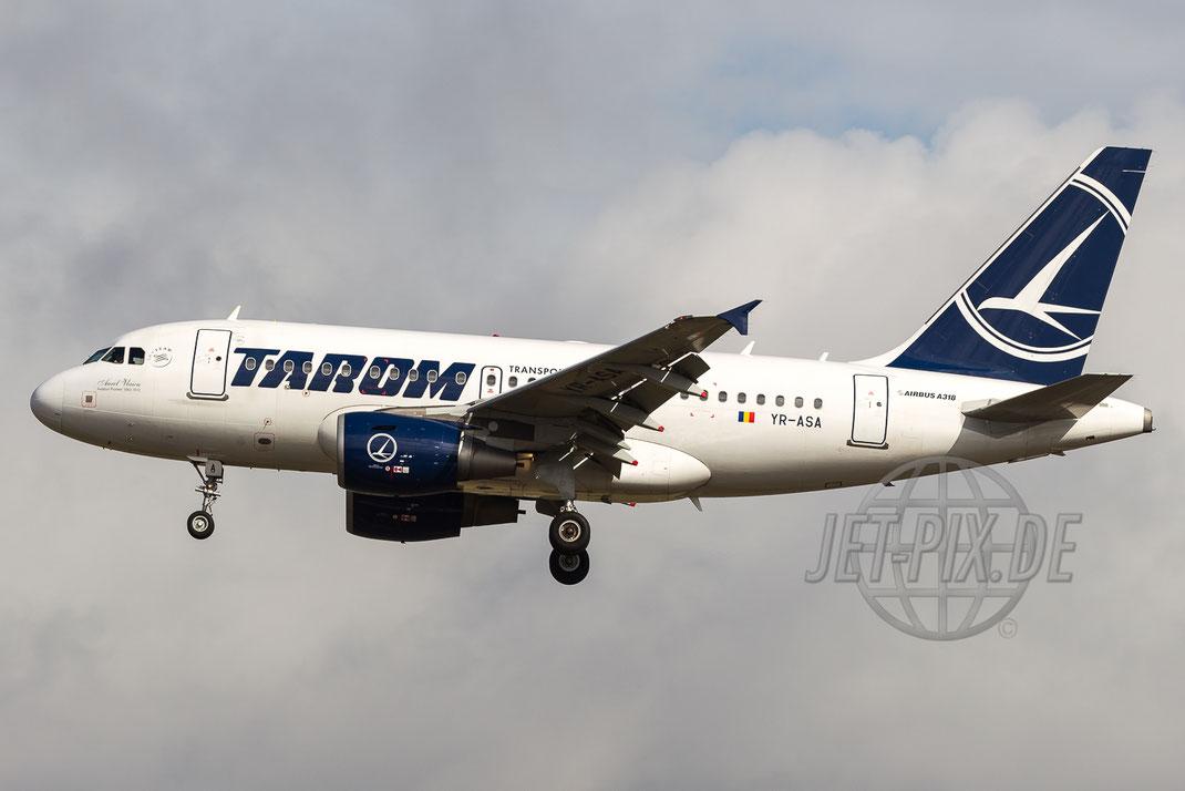 YR-ASA Tarom Airbus A318 2016 08 21 EDDF Frankfurt