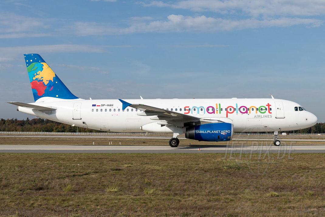 SP-HAH Small Planet Airlines Poland Airbus A320-233 2017 10 19 EDDF Frankfurt