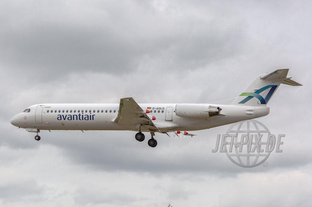 D-ALOG Avantiair Fokker-100 2017 06 29 ETNG Geilenkirchen Pre-Spottertag 35 Years E3A