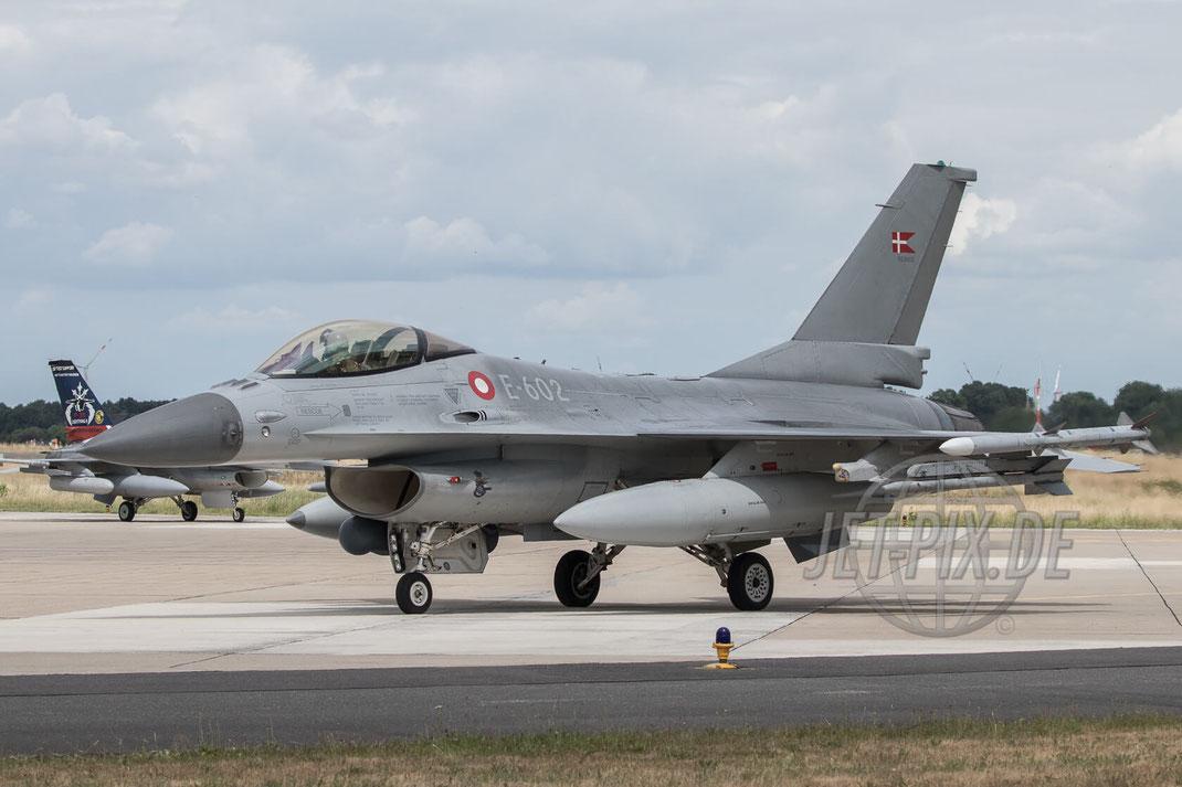 """E-602 Denmark F-16AM Fighting Falcon 2017 06 30 ETNG Geilenkirchen """"35 Years E-3A"""""""