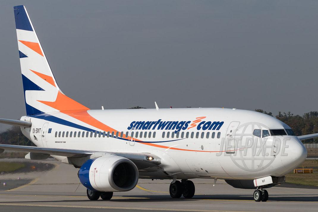 OK-SWT SmartWings Boeing 737-7Q8 2017 10 19 EDDF Frankfurt