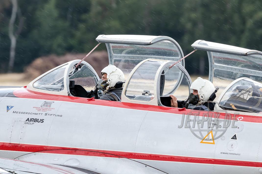 """D-IWMS Messerschmitt Stiftung Hispano Aviacion HA-200D Saeta 2017 06 30 ETNG Geilenkirchen """"35 Years E-3A"""""""