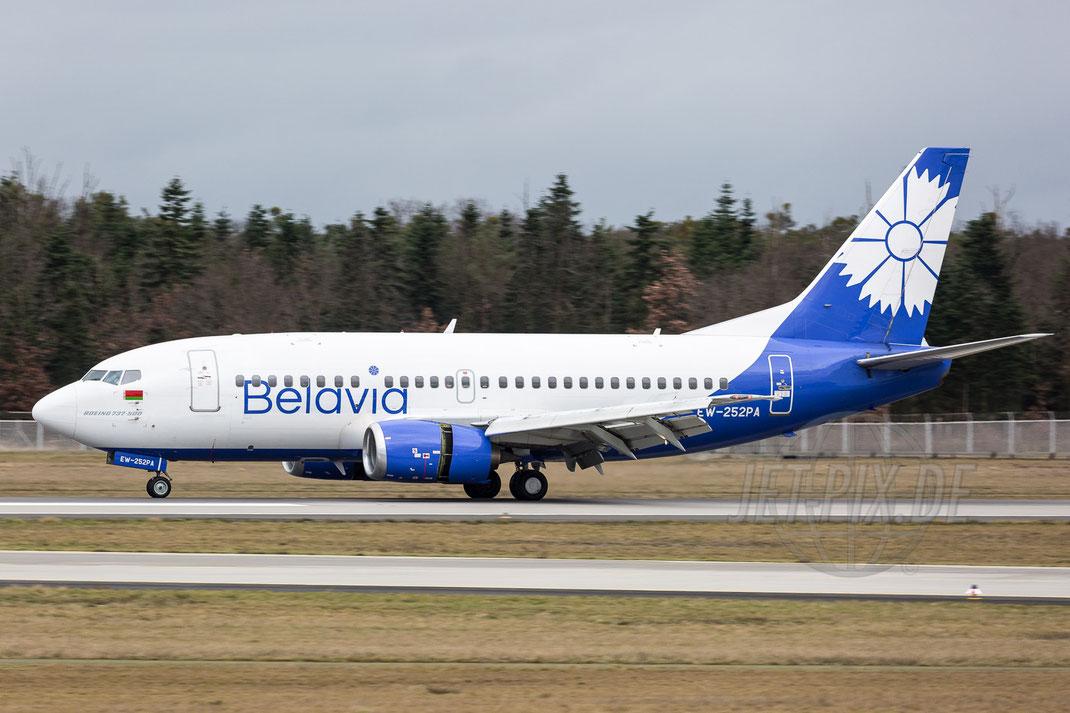 EW-252PA Belavia Boeing-737-524 2017 12 31 EDDF Frankfurt