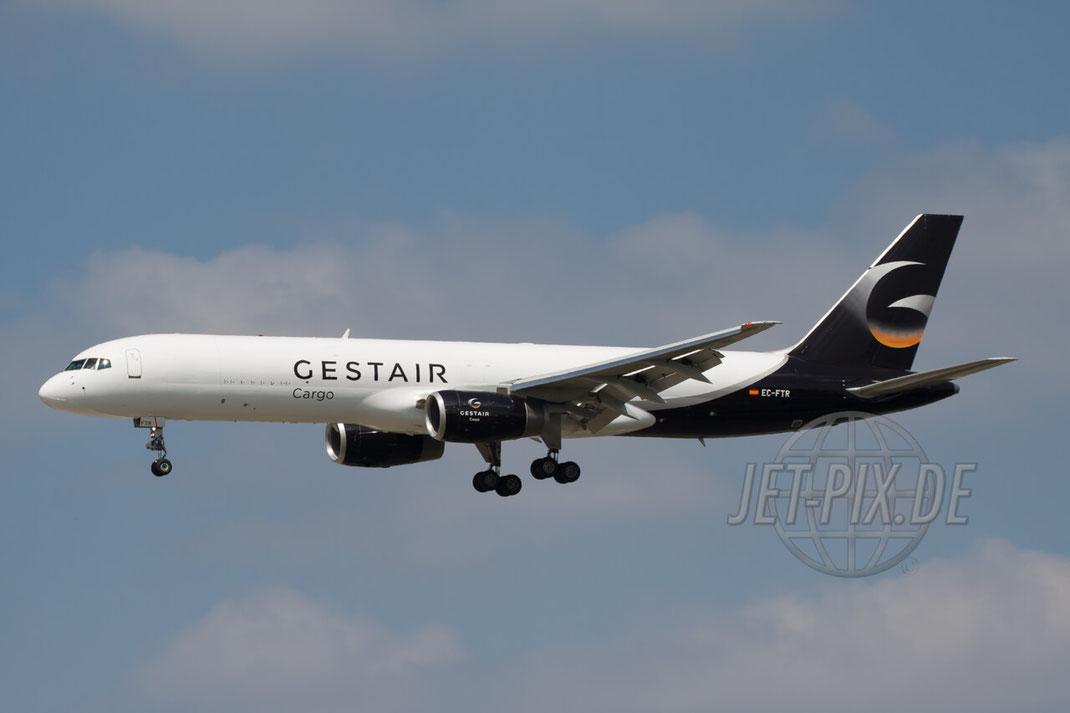 EC-FTR Gestair Boeing 757-200(F) 2011 08 01 EDDF Frankfurt Anflug Affenfelsen Parken Gratis Spotterguide DFS Frachter Cargo