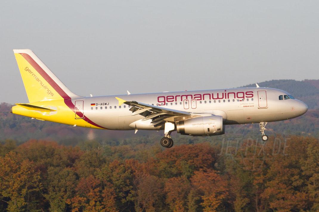 D-AGWJ Germanwings Airbus A319 2012 10 22 EDDK Köln Landung Besucherterrasse Sonntags parken fast gratis viel Spaß einkaufen Herbstlaub Messe
