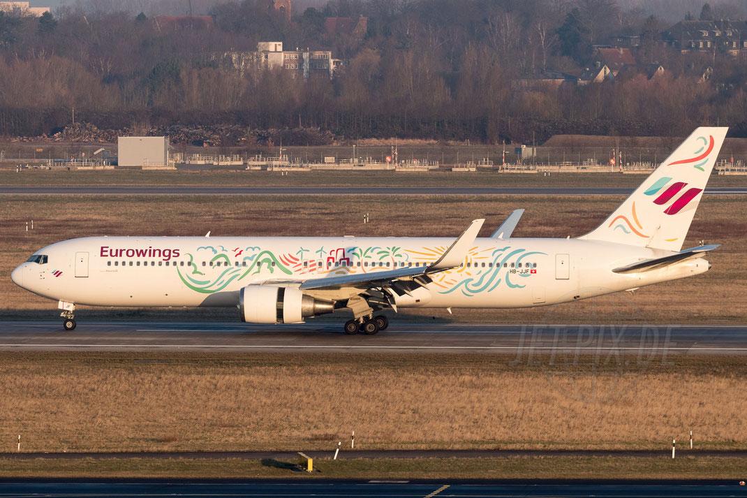 HB-JJF Eurowings Boeing 767 2018 02 18 EDDL Düsseldorf