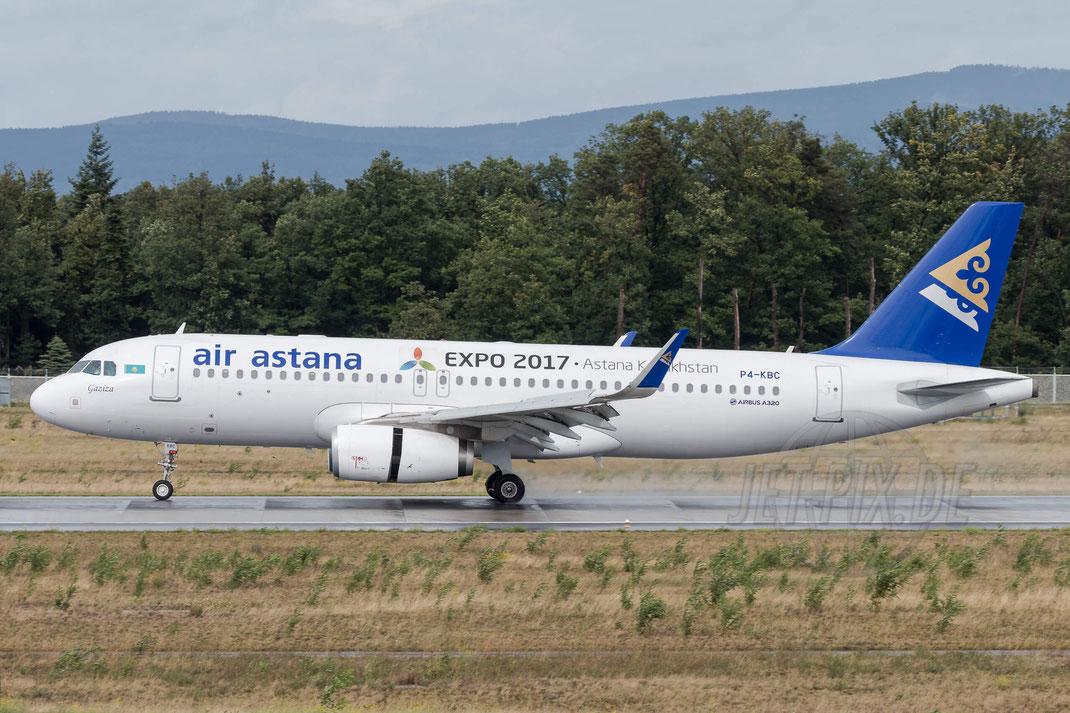 P4-KBC Air Astana Airbus A320-232(WL) 2017 09 13 EDDF Frankfurt