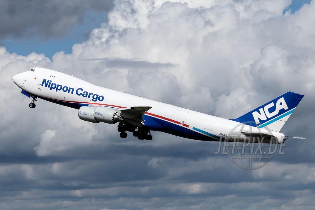 JA12KZ Nippon Air Cargo NCA Boeing 748 2017 05 13 EDFH Hahn