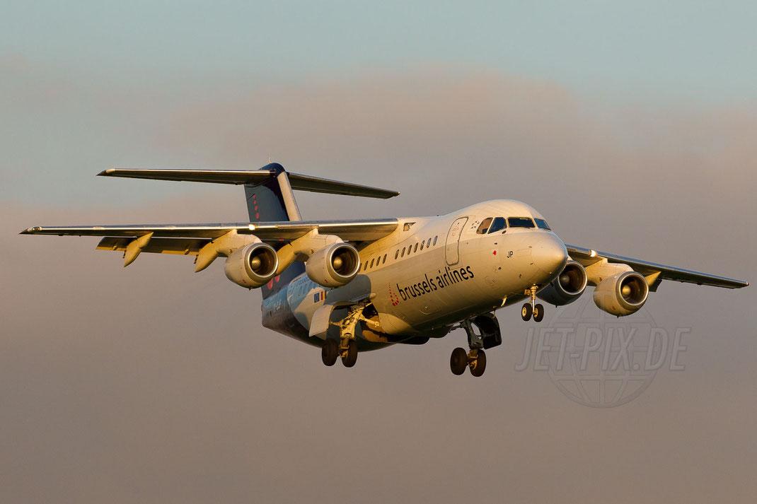OO-DJP SN Brussels Airlines British Aerospace Avro RJ85 2013 04 19 EBBR Brüssel