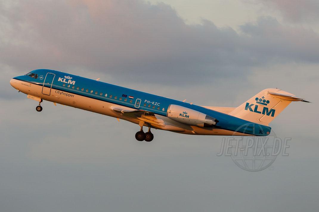 PH-KZC KLM Cityhopper Fokker F70 2014 05 30 EHAM Amsterdam
