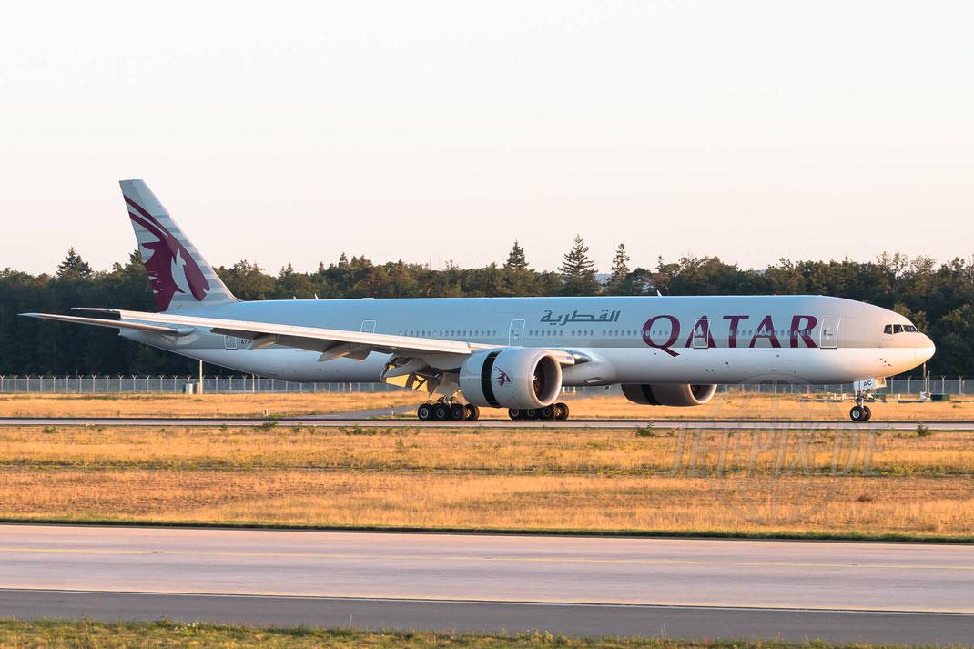 A7-BAC Qatar Airways Boeing 777-3DZ(ER) 2017 08 07 EDDF Frankfurt