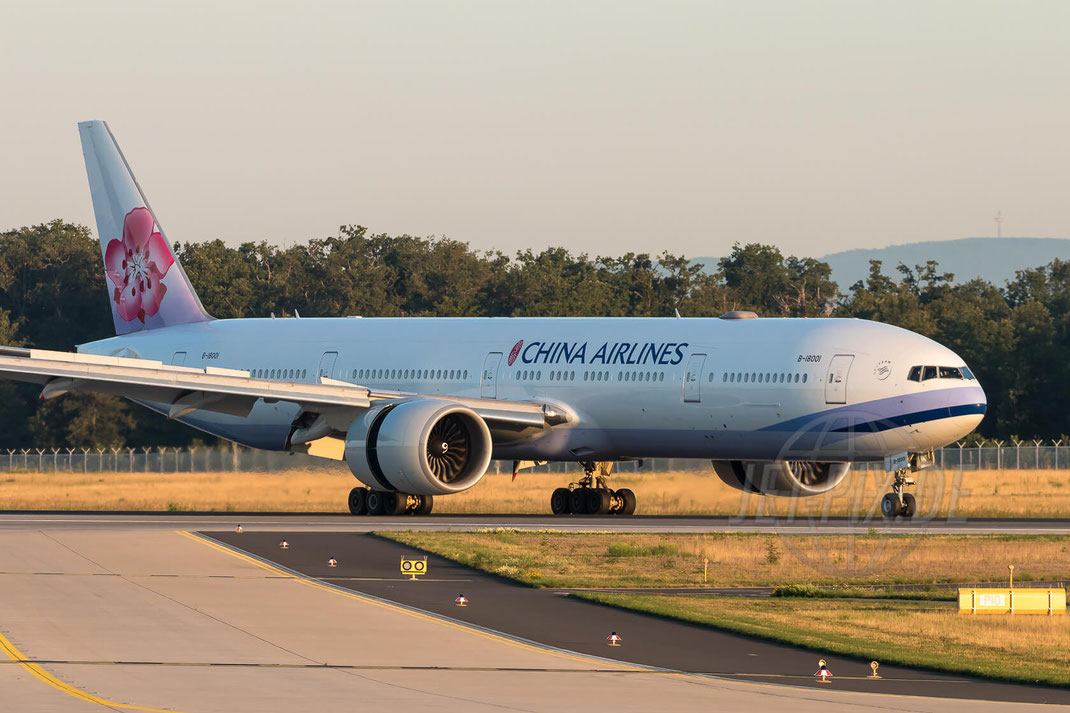 B-18001 China Airlines Boeing Boeing 777-309(ER) 2017 08 07 EDDF Frankfurt