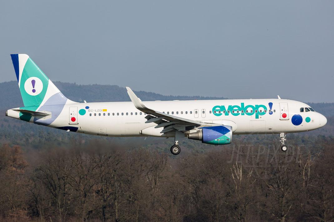 EC-LZD Evelop! Airbus A320 2018 02 18 EDDK Köln