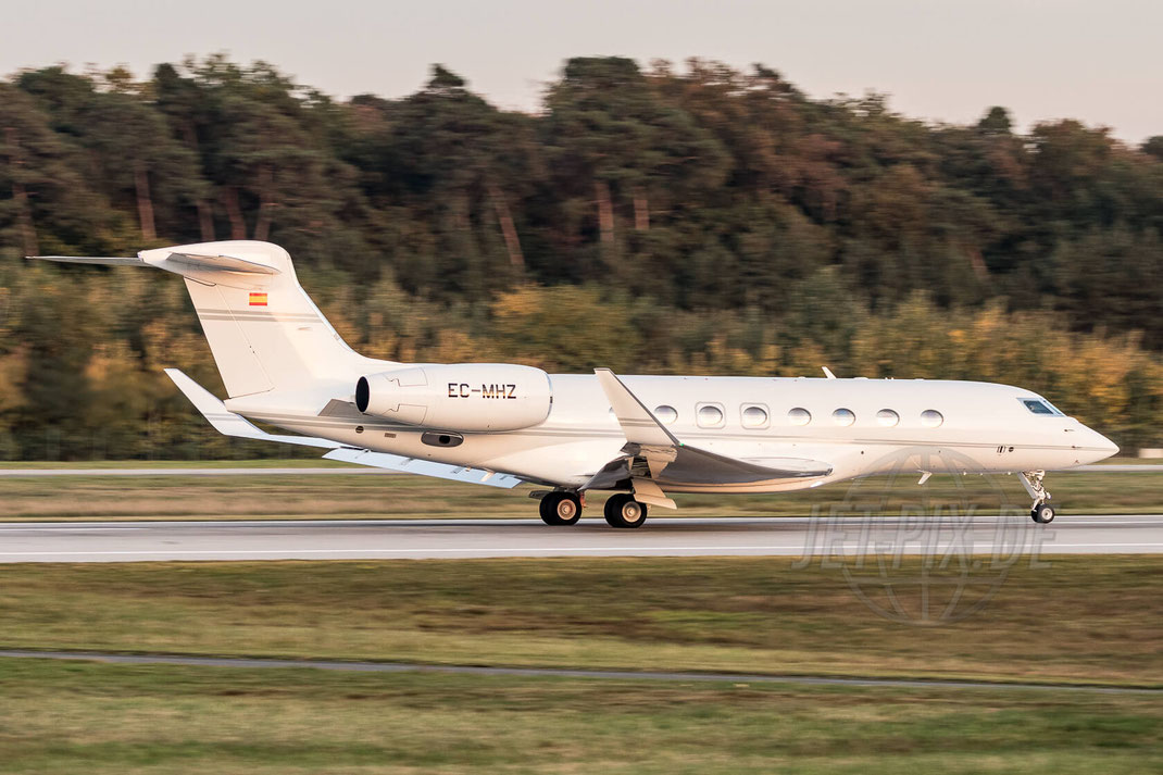 EC-MHZ Private Gulfstream Aerospace G-VI Gulfstream G650 2017 10 17 EDDF Frankfurt