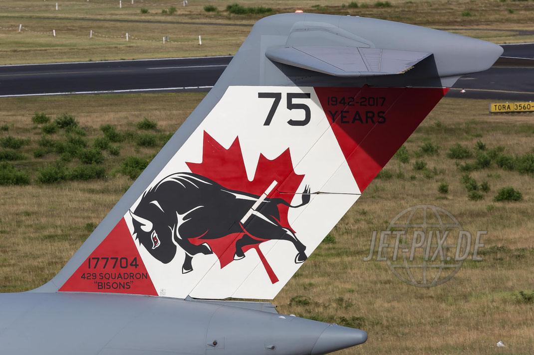 "177704 Canadian Armed Forces Boeing ""429 Squadron Bisons"" C-17A Globemaster III 2017 06 30 EDDK Köln/Bonn"