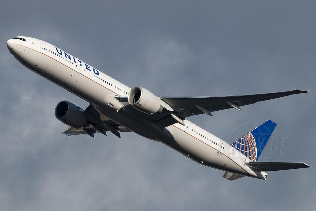 N2644U United Boeing 777 2018 01 16 EDDF Frankfurt
