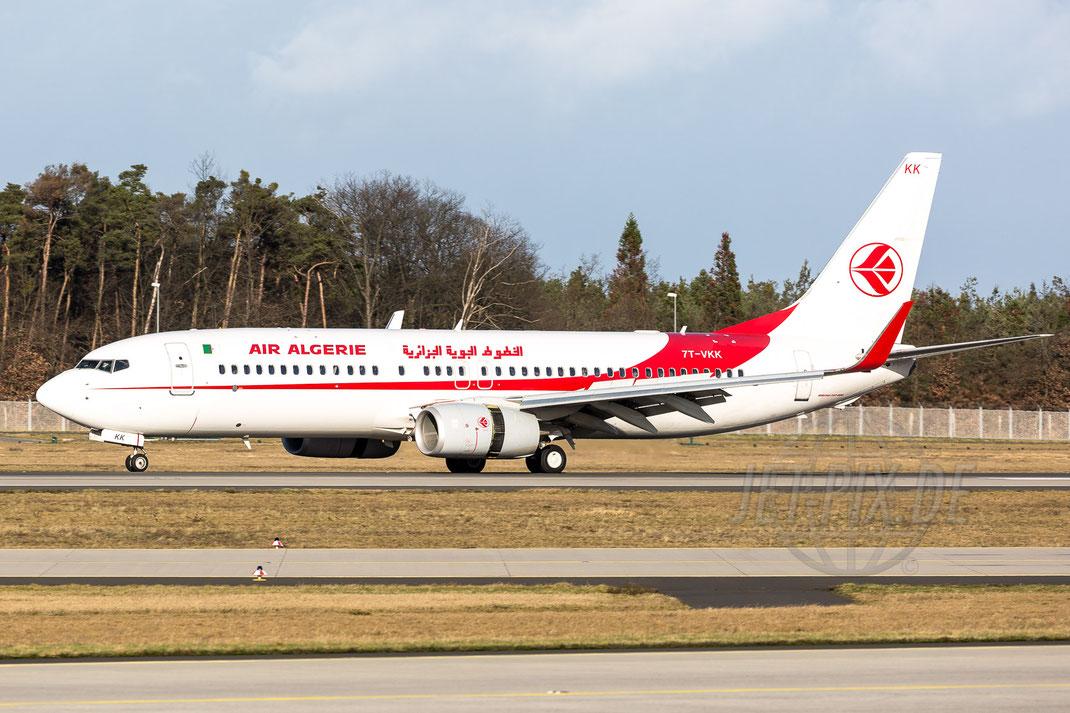 7T-VKK Air Algerie Boeing 737-8D6(WL) 2018 01 04 EDDF Frankfurt