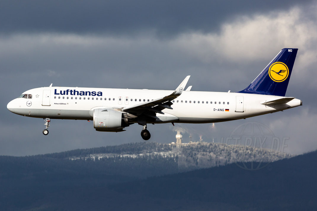 D-AING Lufthansa Airbus A320neo 2018 02 01 EDDF Frankfurt