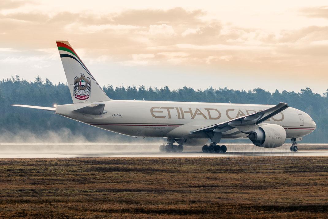 A6-DDA Etihad Cargo Boeing 777F 2018 03 10 EDDF Frankfurt