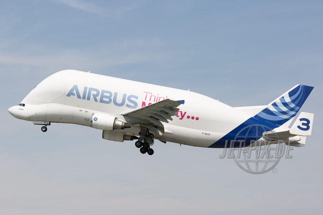 F-GSTC Airbus International Transport Airbus A300 Beluga 2017 05 18 EDHI Finkenwerder
