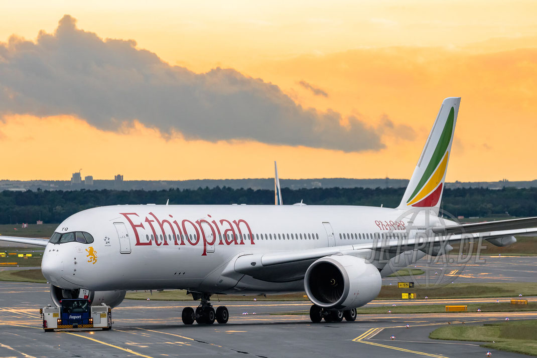 ET-ATQ Ethiopian Airbus A350 2017 05 19 EDDF Frankfurt Spotting A5 Zeppelinheim Parken Gratis