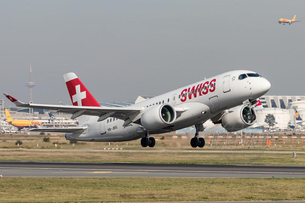 HB-JBG Swiss Bombardier CSeries CS100 (BD-500-1A10) 2017 10 18 EDDF Frankfurt