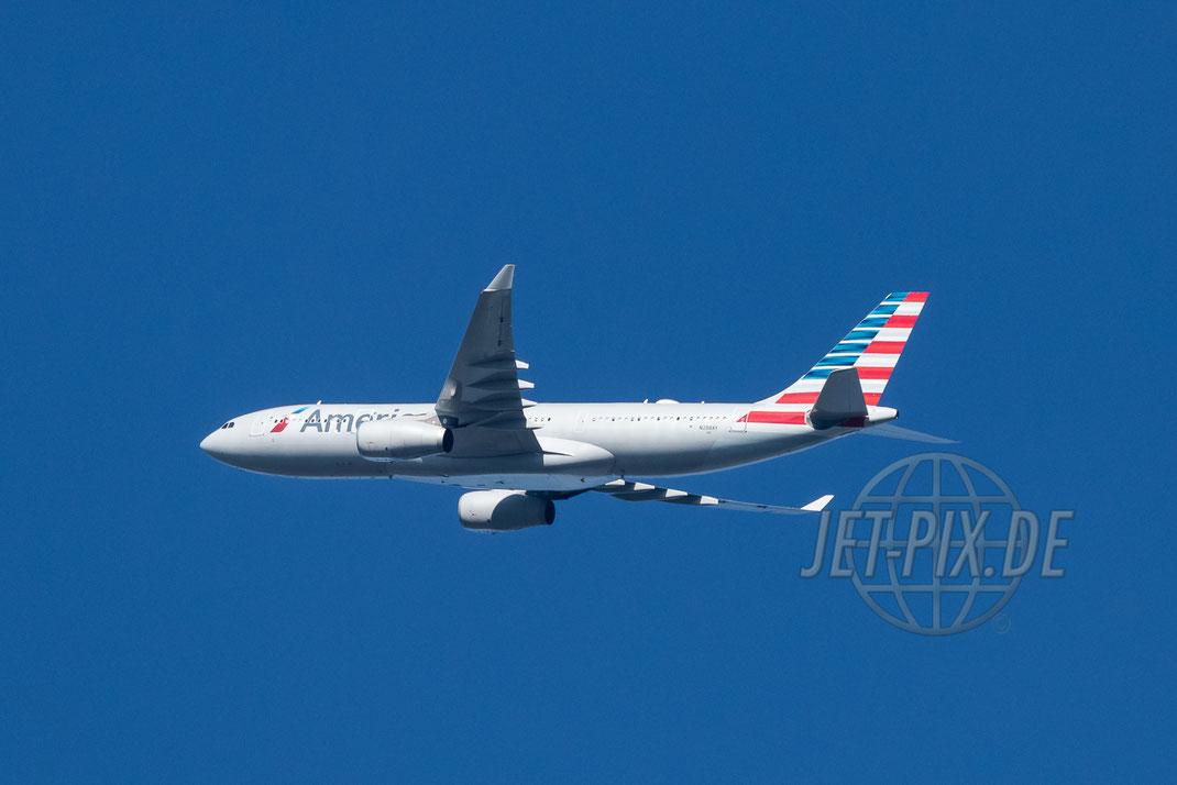 N288AY American Airlines Airbus A330 2017 05 21 Richtung Frankfurt EDDF