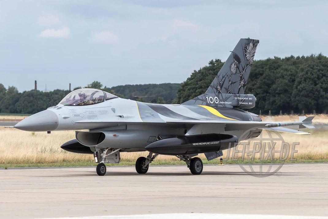 "FA-132 Belgium Air Force General Dynamics F-16AM Fighting Falcon 2017 06 30 ETNG Geilenkirchen ""35 Years E-3A"""