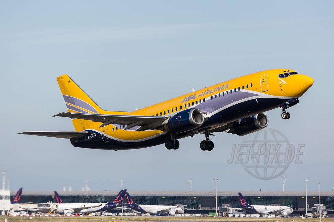 F-GZTB AZL Airlines France Boeing 737-33V(QC) 2017 07 09 (EBBR) Brüssel