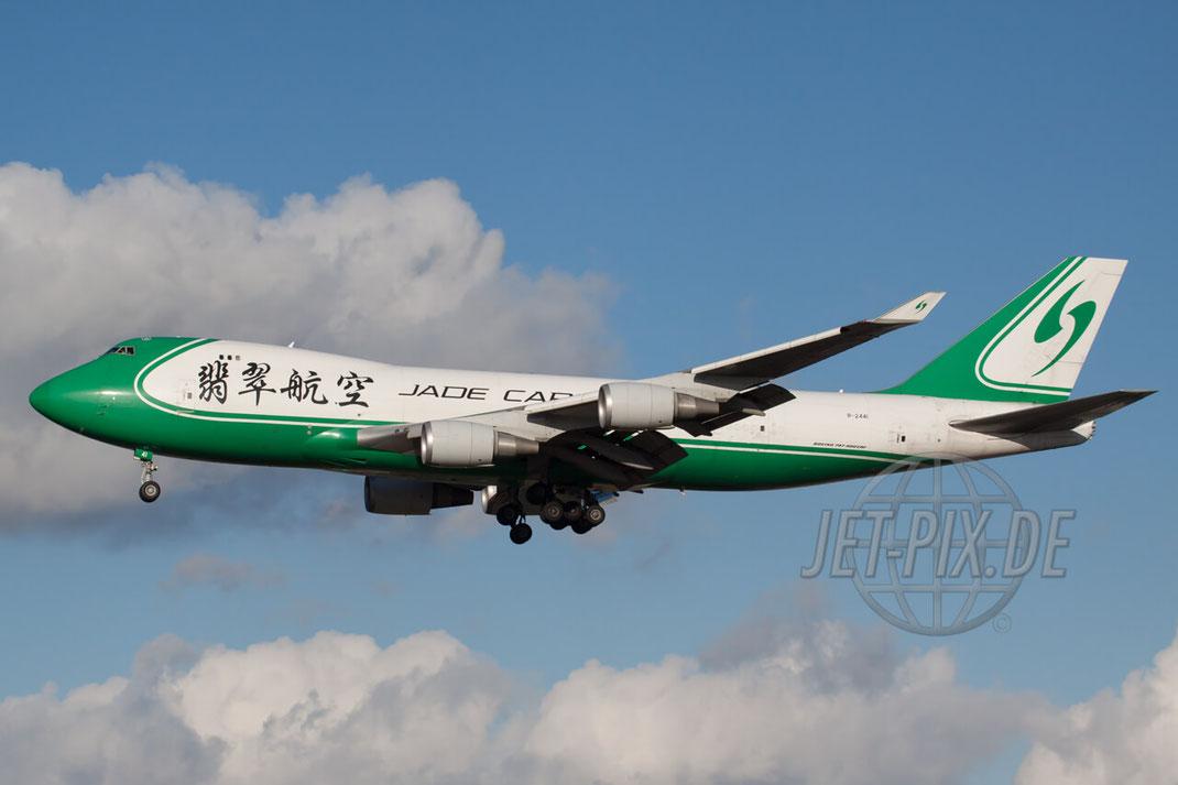 B-2441 Jade Cargo Boeing 747-400F 2011 12 10 EDDF Frankfurt Landung Frankfurt Airport Zeppelinheim A5 Parken Gratis