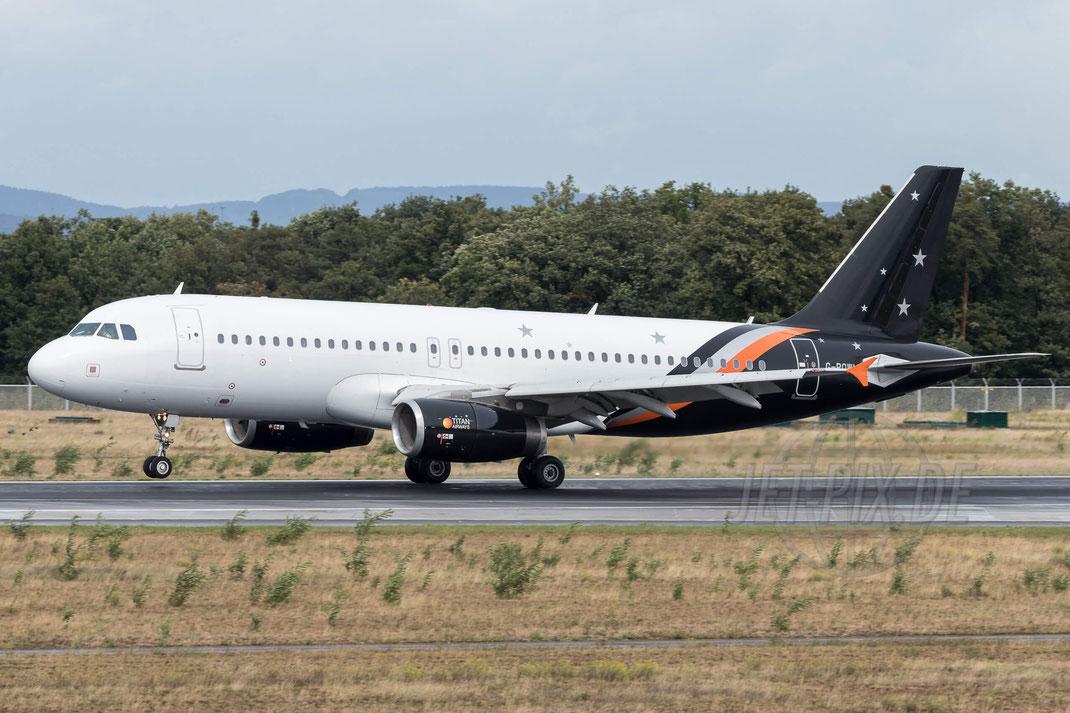G-POWM Titan Airways Airbus A320-232 2017 09 13 EDDF Frankfurt