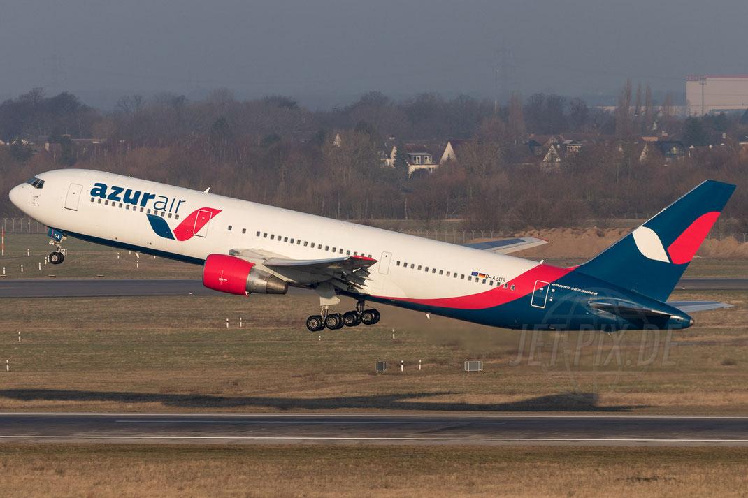 D-AZUA Azur Air Deutschland Boeing 767 2018 02 18 EDDL Düsseldorf