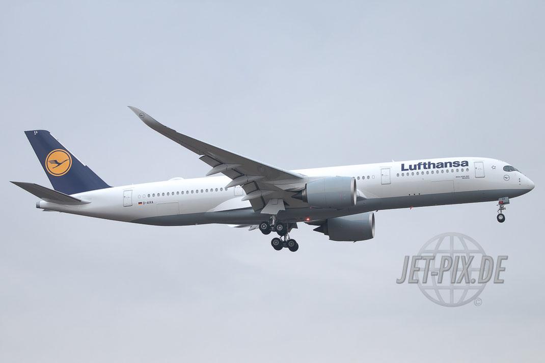 D-AIXA Lufthansa Airbus A350-941 EDDF Frankfurt Erstlandung tolles Erlebnis FraPort Event