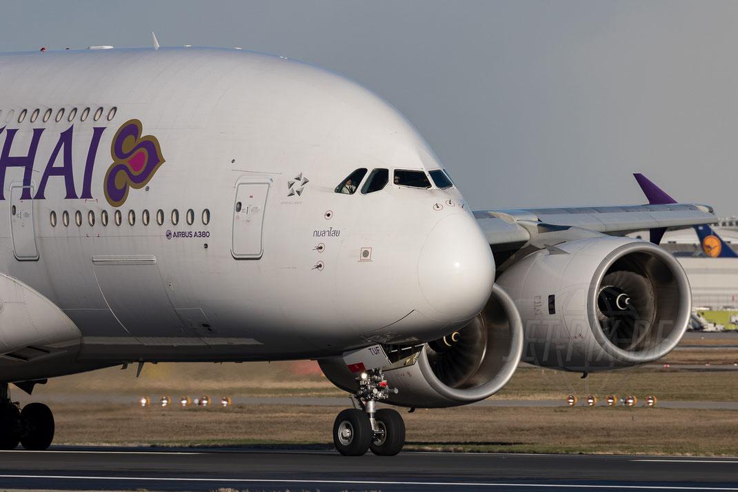 HS-TUF Thai Airways Airbus A380 2018 01 16 EDDF Frankfurt