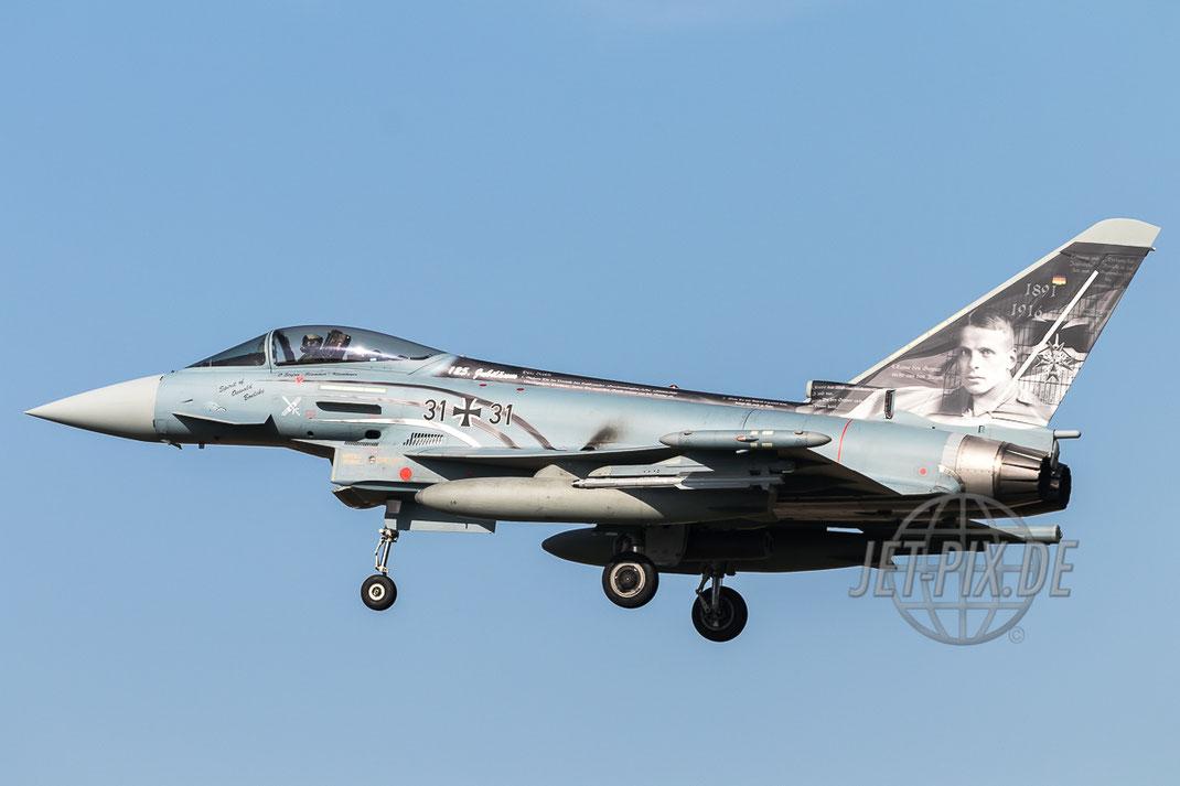 "31+31 Deutsche Luftwaffe Eurofighter EF-2000 Typhoon ""Boelcke"" Bestes Wetter Sonderlackeirung Oswald Boelcke Nörvenich ETNN Spotter Spotting"